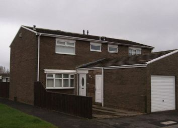 Thumbnail 3 bed semi-detached house for sale in Broomlee Road, Killingworth, Newcastle Upon Tyne