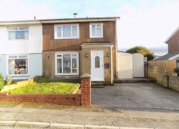 Thumbnail 3 bedroom semi-detached house for sale in St. Illtyds Road, Cefn Glas, Bridgend.
