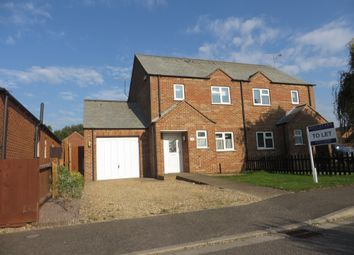 Thumbnail 3 bed semi-detached house to rent in Jubilee Close, Sutton St. James, Spalding