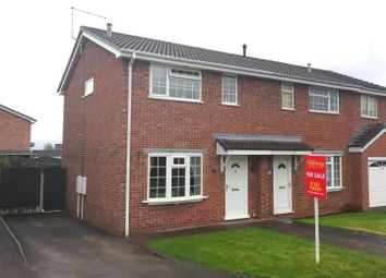 Thumbnail 3 bed semi-detached house for sale in Britannia Drive, Stretton, Burton-On-Trent