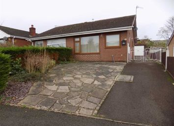 Thumbnail 1 bed semi-detached bungalow to rent in Churchill Avenue, Cheddleton, Staffordshire