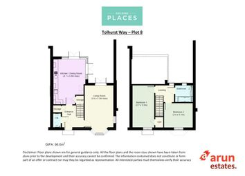 Thumbnail 2 bedroom terraced house for sale in Tolhurst Way, Lenham, Maidstone, Kent