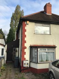 Thumbnail 2 bed semi-detached house to rent in Reservoir Road, Birmingham