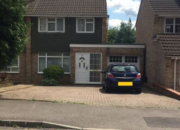 Thumbnail 3 bed semi-detached house to rent in Butely Road, Luton