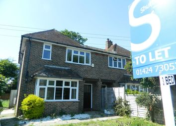 Thumbnail 3 bed semi-detached house to rent in Peartree Lane, Bexhill-On-Sea