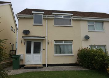 Thumbnail 3 bed semi-detached house for sale in Manor Close, St Austell, Cornwall