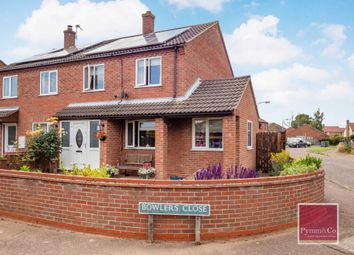 Thumbnail 3 bed semi-detached house for sale in Bowlers Close, Freethorpe, Norwich