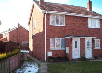 Thumbnail 2 bed semi-detached house to rent in Willow Rise, Thorpe Willoughby, Selby