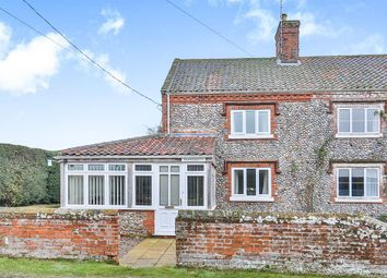 Thumbnail 2 bedroom semi-detached house for sale in Crudds Hole, Swafield, North Walsham