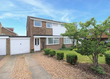 Thumbnail 3 bed semi-detached house for sale in Reynes Drive, Oakley, Bedford