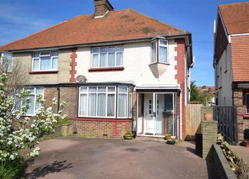 Thumbnail 3 bed semi-detached house for sale in Sheridan Road, Broadwater, Worthing, West Sussex