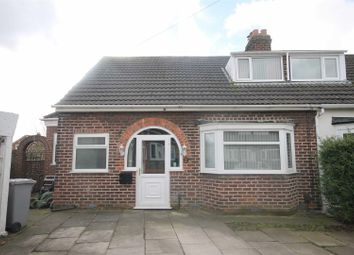 Thumbnail 3 bed semi-detached bungalow for sale in Woodlands Avenue, Urmston, Manchester