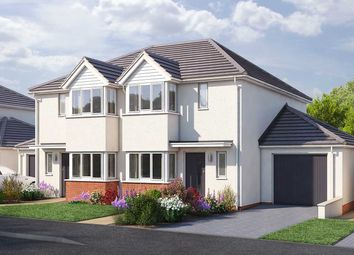 "Thumbnail 3 bed semi-detached house for sale in ""The Hanbury"" at Vicarage Hill, Kingsteignton, Newton Abbot"