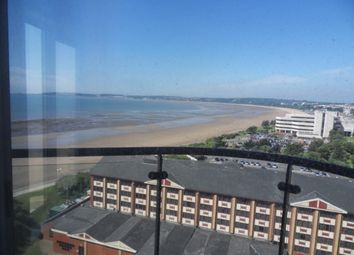 Thumbnail 2 bedroom flat to rent in Meridian Tower, Trawler Road, Swansea.