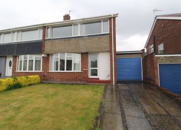 Thumbnail 3 bed semi-detached house for sale in Alderney Gardens, Chapel House, Newcastle Upon Tyne