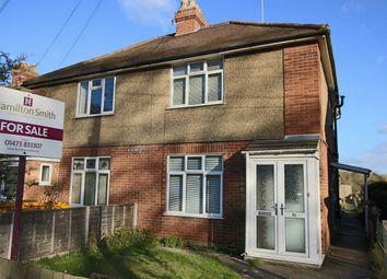 Thumbnail 3 bed semi-detached house for sale in Stowmarket Road, Great Blakenham, Ipswich, Suffolk