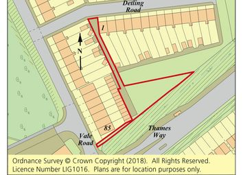 Thumbnail Land for sale in Land Rear Of Detling Road, Northfleet, Gravesend, Kent