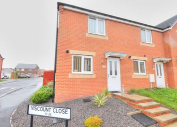 Thumbnail 2 bed terraced house to rent in Viscount Close, Catchgate, Stanley