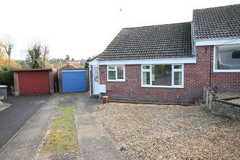 Thumbnail 2 bed semi-detached bungalow to rent in 35 Sambourne Gardens, Warminster, Wiltshire