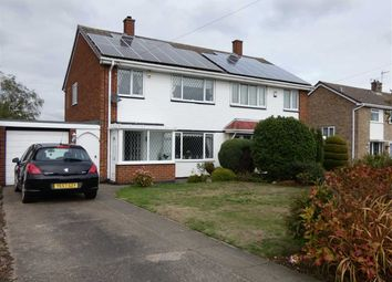 Thumbnail 3 bed semi-detached house for sale in Swiftsure Crescent, Laceby Acres, Grimsby
