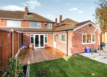 Thumbnail 4 bed semi-detached house for sale in Wayside Drive, Thurmaston, Leicester, Leicestershire