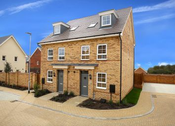 "Thumbnail 4 bed terraced house for sale in ""Helmsley"" at Carters Lane, Kiln Farm, Milton Keynes"