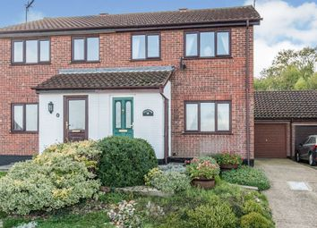 Thumbnail 3 bed semi-detached house for sale in Chequers Rise, Great Blakenham, Ipswich