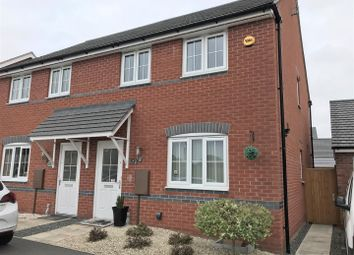 Thumbnail 3 bed semi-detached house for sale in Sunderland Close, Church Gresley, Swadlincote