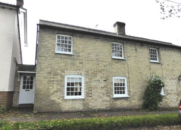 Thumbnail 3 bedroom semi-detached house to rent in Church Lane, Dullingham, Newmarket