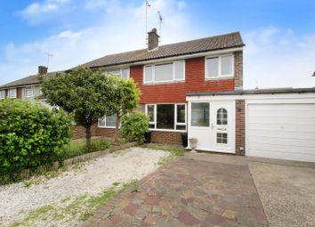 Thumbnail 3 bed semi-detached house for sale in Arlington Crescent, East Preston, Littlehampton