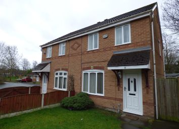 Thumbnail 3 bed semi-detached house for sale in Foxfield Close, Fearnhead, Warrington