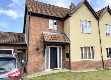 Thumbnail 4 bed semi-detached house for sale in Mileham Drive, Aylsham, Norwich