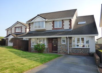 Thumbnail 4 bed detached house for sale in The Meadows, Cimla, Neath .