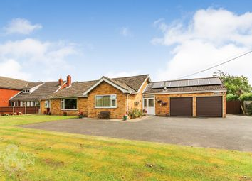 Thumbnail 4 bed detached bungalow for sale in Hawkes Lane, Bracon Ash, Norwich