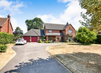 Thumbnail 5 bed detached house for sale in Bunwell Road, Spooner Row, Wymondham