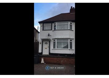 Thumbnail 3 bed semi-detached house to rent in Derrydown Road, Birmingham