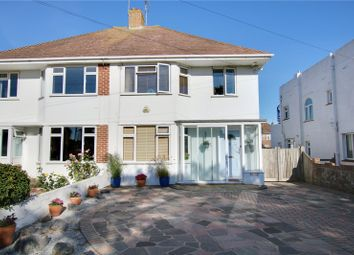 Thumbnail 3 bedroom semi-detached house for sale in Alinora Avenue, Goring-By-Sea, Worthing, West Sussex