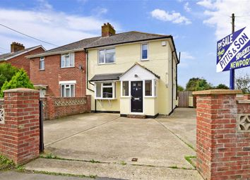 Thumbnail 3 bed semi-detached house for sale in Gunville Road, Newport, Isle Of Wight