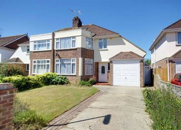 Thumbnail 3 bed semi-detached house for sale in Rosebery Avenue, Goring-By-Sea, Worthing, West Sussex