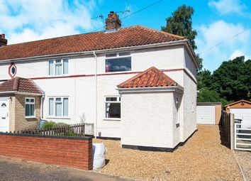Thumbnail 3 bedroom end terrace house for sale in Tusting Close, Sprowston, Norwich