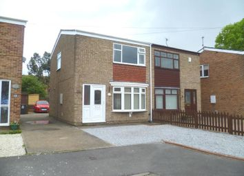Thumbnail 2 bedroom semi-detached house to rent in Truro Close, Sutton-On-Hull, Hull