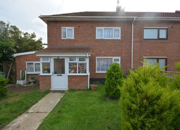 Thumbnail 4 bed end terrace house for sale in Northwood Close, Lowestoft