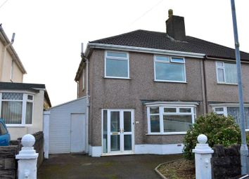 Thumbnail 3 bed semi-detached house for sale in Graiglwyd Road, Cockett, Swansea