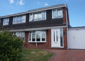 Thumbnail 3 bed semi-detached house for sale in Hanlith, Wilnecote, Tamworth