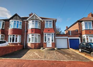 Thumbnail 3 bedroom semi-detached house for sale in Westwood Gardens, Kenton, Newcastle Upon Tyne
