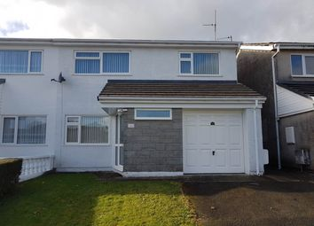 Thumbnail 3 bed semi-detached house to rent in 48 Penbryn, Lampeter, Ceredigion
