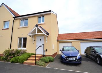 Thumbnail 3 bed semi-detached house for sale in Shareford Way, Cranbrook, Exeter, Devon