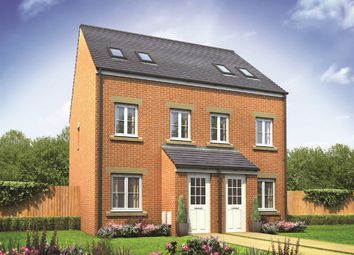 "Thumbnail 3 bed town house for sale in ""The Sutton"" at Prestwick Road, Dinnington, Newcastle Upon Tyne"