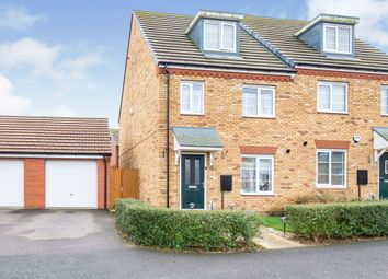 Thumbnail 3 bed semi-detached house for sale in Catterick Way, Hamilton, Leicester