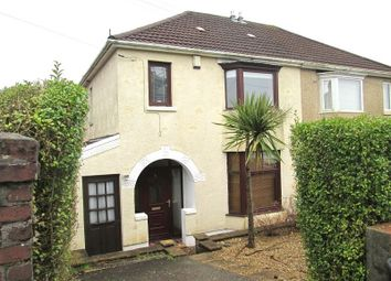 Thumbnail 3 bed semi-detached house to rent in Pentyla Road, Cockett, Swansea, City And County Of Swansea.